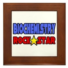 """Biochemistry Rock Star"" Framed Tile"