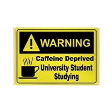 Warning University Student Rectangle Magnet