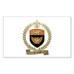 RAMEZAY Family Crest Rectangle Sticker