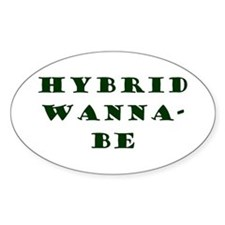 Hybrid Wanna-Be Oval Decal