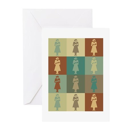 Midwifery Pop Art Greeting Cards (Pk of 20)