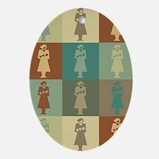 Midwifery Pop Art Oval Ornament