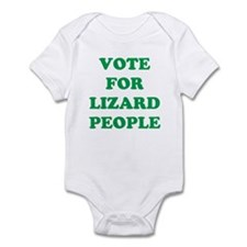 VOTE FOR LIZARD PEOPLE Infant Bodysuit