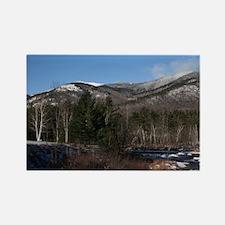 Adirondack Mountain Snow Rectangle Magnet (10 pack