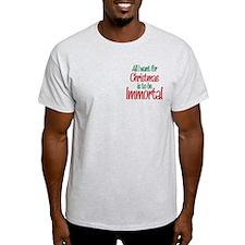 Twilight Immortal Christmas T-Shirt