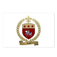 RAUX Family Crest Postcards (Package of 8)