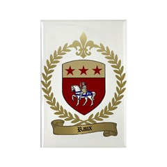 RAUX Family Crest Rectangle Magnet