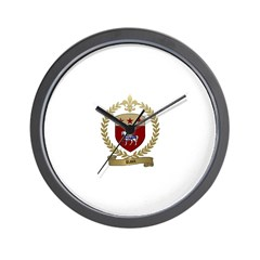 RAUX Family Crest Wall Clock