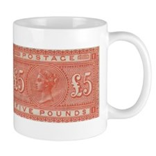 QV Five Pounds Orange Mug