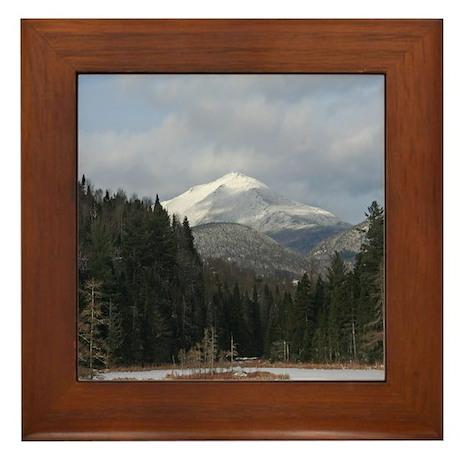 An Adirondack Winter Framed Tile