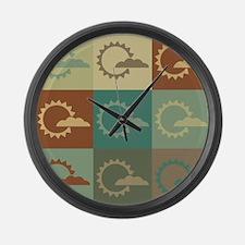 Meteorology Pop Art Large Wall Clock
