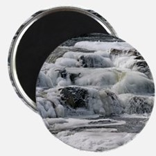 "Icy Winter River 2.25"" Magnet (10 pack)"