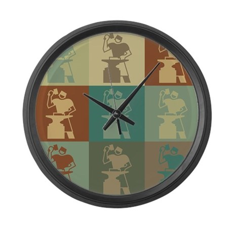 Metal Working Pop Art Large Wall Clock