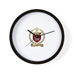 REAU Family Crest Wall Clock