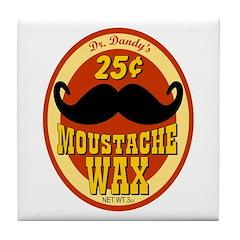 Moustache Wax Tile Coaster