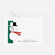 Holly Jolly Snowman Greeting Card