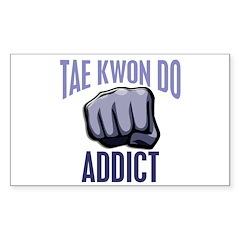 Tae Kwon Do Addict Rectangle Decal