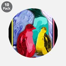 """Unique Penguins 3.5"""" Button (10 pack)"""