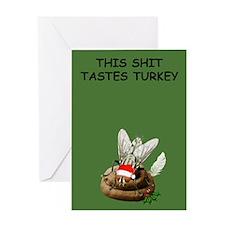 Funny shit Christmas Greeting Card