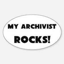 MY Archivist ROCKS! Oval Decal