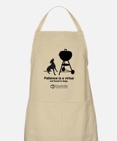 BBQ Apron-Patience is a virtue