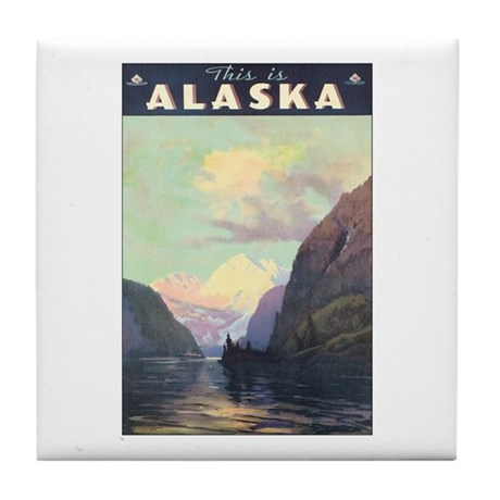 Alaska US Tile Coaster
