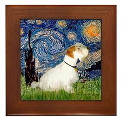 Starry Night/Sealyham L1 Framed Tile