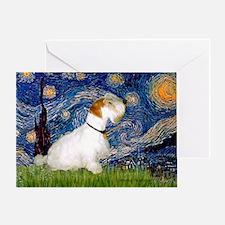Starry Night/Sealyham L1 Greeting Card