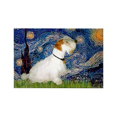 Starry Night/Sealyham L1 Rectangle Magnet (100 pac