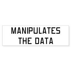 Manipulates Data Bumper Bumper Sticker