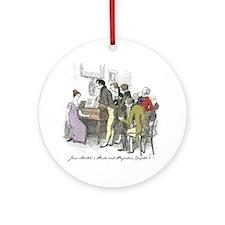Pride & Prejudice Ch 6, Hugh Ornament (round)