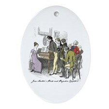 Pride & Prejudice Ch 6, Hugh Oval Ornament (ov