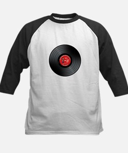 Old Rocker Dude Vinyl Record Kids Baseball Jersey