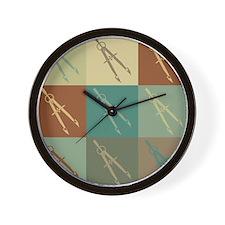 Mechanical Engineering Pop Art Wall Clock