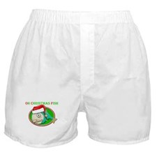 Oh Christmas Fish Boxer Shorts