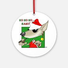 Ho Ho Ho Baby / Wolf Ornament (Round)