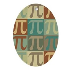 Math Pop Art Oval Ornament