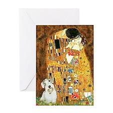 The Kiss/Sealyham L2 Greeting Card
