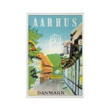 Aarhus Danmark Rectangle Magnet