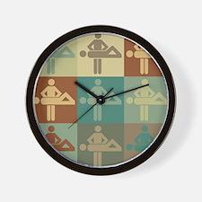Massage Pop Art Wall Clock