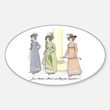 Pride & Prejudice Ch 9 Oval Decal