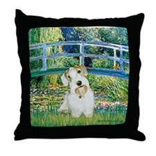 Bridge/Sealyham L2 Throw Pillow