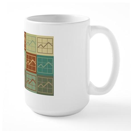 Market Research Pop Art Large Mug