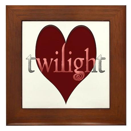 Twilight in Your Heart Framed Tile