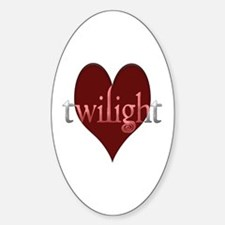 Twilight in Your Heart Oval Decal
