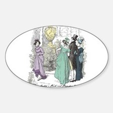Pride & Prejudice Ch 10 Oval Decal