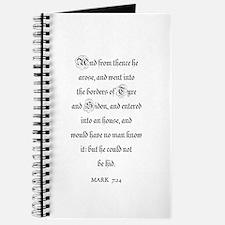 MARK 7:24 Journal