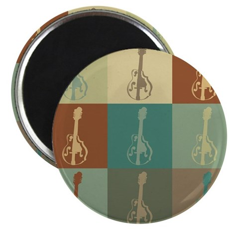 "Mandolin Pop Art 2.25"" Magnet (10 pack)"