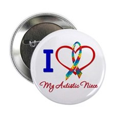 """I Love My Autistic Niece 2.25"""" Button (10 pack)"""