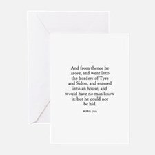 MARK  7:24 Greeting Cards (Pk of 10)
